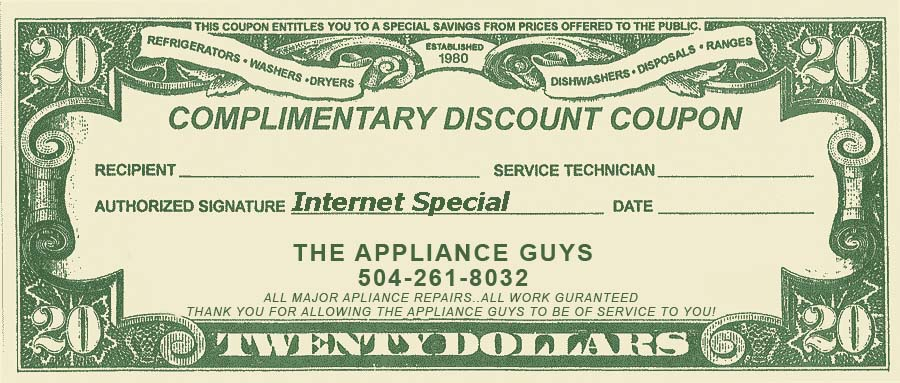 The Appliance Guys Service Coupon